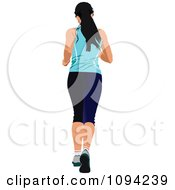 Clipart Female Jogger 2 Royalty Free Vector Illustration by leonid