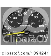 Clipart Vehicle Speedometer 2 Royalty Free Vector Illustration