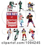 Clipart Football Players Royalty Free Vector Illustration