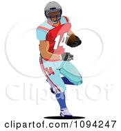 Clipart Faceless American Football Player 1 Royalty Free Vector Illustration