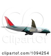 Clipart Commercial Jumbo Jet Airliner 1 Royalty Free Vector Illustration