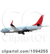 Clipart Commercial Jumbo Jet Airliner 2 Royalty Free Vector Illustration by leonid
