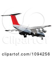 Clipart Commercial Jumbo Jet Airliner 3 Royalty Free Vector Illustration