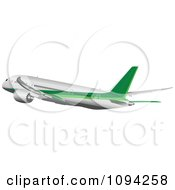 Clipart Commercial Jumbo Jet Airliner 4 Royalty Free Vector Illustration by leonid