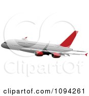 Clipart Commercial Jumbo Jet Airliner 6 Royalty Free Vector Illustration