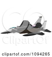 Clipart Flying Air Force Jet Royalty Free Vector Illustration