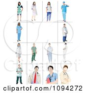 Clipart Faceless Male And Female Doctors 2 Royalty Free Vector Illustration by leonid