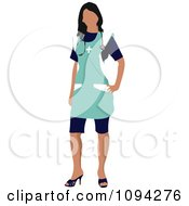 Clipart Faceless Female Doctor 5 Royalty Free Vector Illustration by leonid