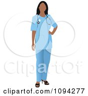 Clipart Faceless Female Doctor 6 Royalty Free Vector Illustration by leonid