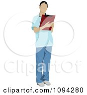 Clipart Faceless Female Doctor 8 Royalty Free Vector Illustration by leonid #COLLC1094280-0100