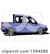 Clipart Purple Car Truck Royalty Free Vector Illustration by leonid