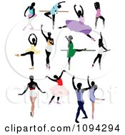 Clipart Ballet Dancers Royalty Free Vector Illustration by leonid