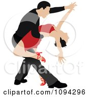 Clipart Tango Dancing Couple 1 Royalty Free Vector Illustration by leonid