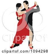 Clipart Tango Dancing Couple 3 Royalty Free Vector Illustration by leonid