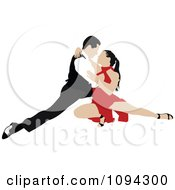 Clipart Tango Dancing Couple 5 Royalty Free Vector Illustration by leonid