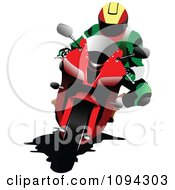 Clipart Person Riding A Motorcycle 7 Royalty Free Vector Illustration by leonid