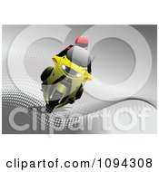 Clipart Person Riding A Motorcycle 2 Royalty Free Vector Illustration