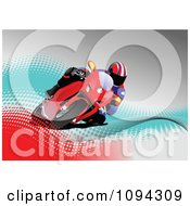 Clipart Person Riding A Motorcycle 3 Royalty Free Vector Illustration