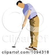 Clipart Faceless Male Golfer 4 Royalty Free Vector Illustration by leonid