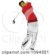 Clipart Faceless Male Golfer 2 Royalty Free Vector Illustration by leonid