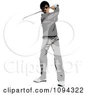 Clipart Faceless Male Golfer 1 Royalty Free Vector Illustration by leonid