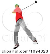 Clipart Faceless Male Golfer 5 Royalty Free Vector Illustration by leonid