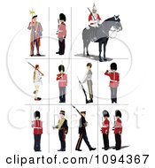 Clipart Guards Royalty Free Vector Illustration by leonid