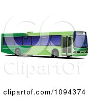 Clipart Green Public Transport Bus Royalty Free Vector Illustration by leonid