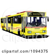 Clipart Yellow City Transport Bus Royalty Free Vector Illustration by leonid