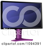 Clipart Computer Monitor 2 Royalty Free Vector Illustration