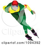 Clipart Faceless Speed Skater 1 Royalty Free Vector Illustration by leonid