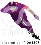 Clipart Faceless Speed Skater 2 Royalty Free Vector Illustration by leonid