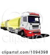 Clipart Lorry Truck Hauling Gasoline Royalty Free Vector Illustration