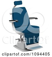 Clipart Blue And Silver Barbers Chair Royalty Free Vector Illustration