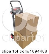 Clipart Dolly And Two Cardboard Boxes Royalty Free Vector Illustration