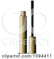 Clipart Gold Tube And Mascara Wand Royalty Free Vector Illustration