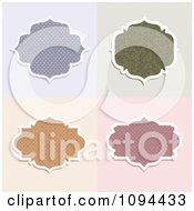 Clipart Polka Dot Frame Design Elements Royalty Free Vector Illustration