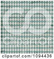 Worn Grungy Green And White Argyle Pattern