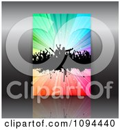 Clipart Grungy Dance Party Flyer Over Gray Royalty Free Vector Illustration