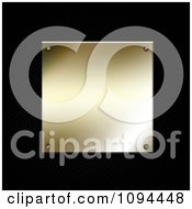 Clipart 3d Shiny Gold Plaque Over Black Perforated Metal Royalty Free CGI Illustration