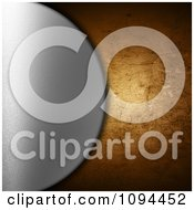 Clipart Silver Disc Over Grungy Cracked Metal Royalty Free CGI Illustration