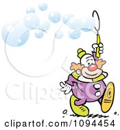 Clipart Entertainer Clown Blowing Bubbles Royalty Free Vector Illustration by Johnny Sajem