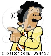Clipart Businessman Worried About Whats Going On Royalty Free Vector Illustration