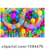 Clipart 3d Colorful Party Balloons Royalty Free CGI Illustration