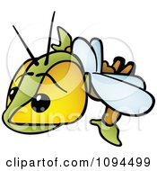 Clipart Flying Bug Royalty Free Vector Illustration