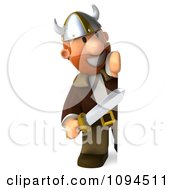 Clipart 3d Viking Holding A Sword And Sign 3 Royalty Free CGI Illustration by Julos