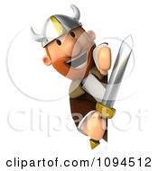 Clipart 3d Viking Holding A Sword And Sign 4 Royalty Free CGI Illustration by Julos