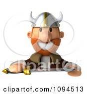 Clipart 3d Viking Holding A Sword And Sign 1 Royalty Free CGI Illustration by Julos