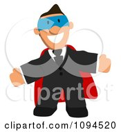 Clipart Welcoming Super Businessman Royalty Free CGI Illustration