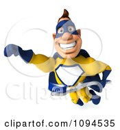Clipart 3d Male Super Hero Flying With A Tooth Brush 2 Royalty Free CGI Illustration